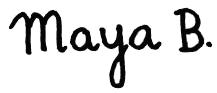 Maya B. Logo